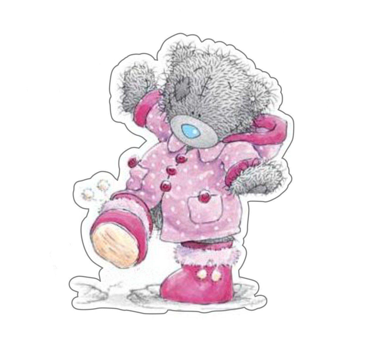 Мишка тедди рисунок девочка