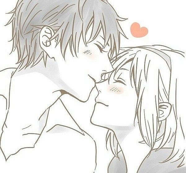 Картинки нарисованные карандашом парень и девушка обнимаются (16)