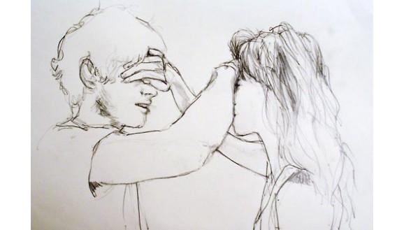 Картинки нарисованные карандашом парень и девушка обнимаются (18)