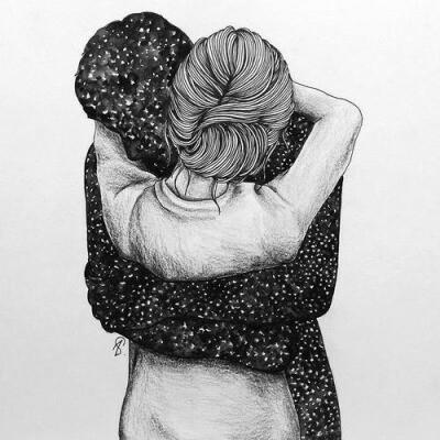 Картинки нарисованные карандашом парень и девушка обнимаются (21)