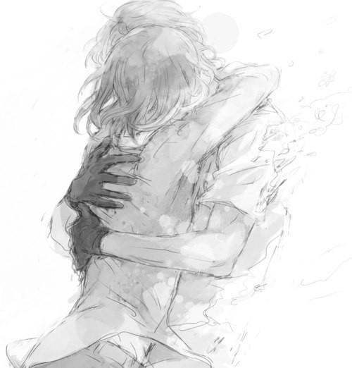 Картинки нарисованные карандашом парень и девушка обнимаются (8)