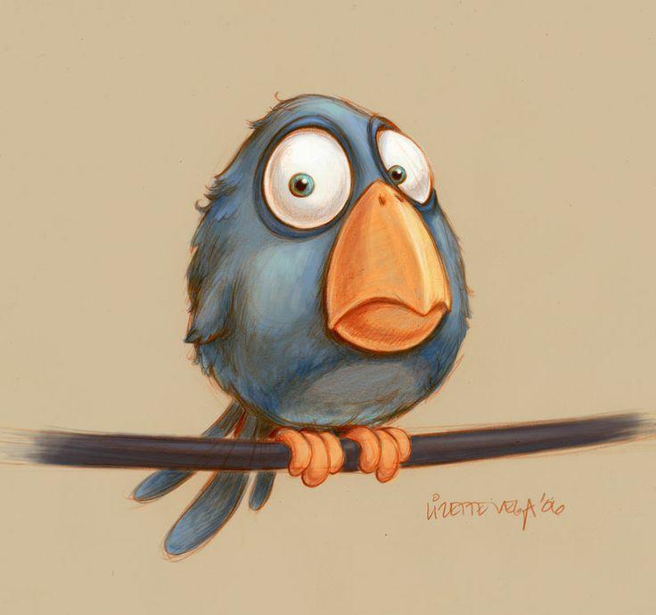 Картинки нарисованные карандашом птицы (10)