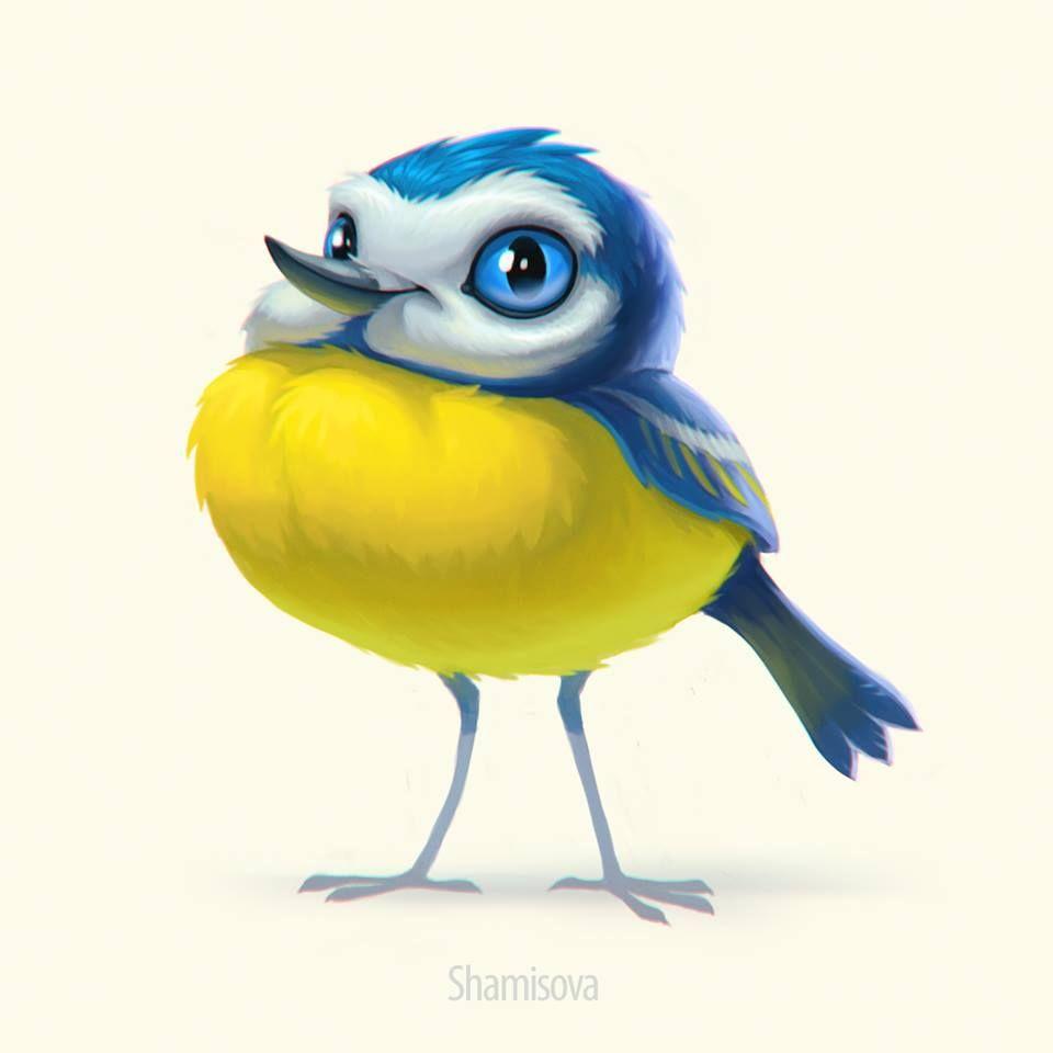 Картинки нарисованные карандашом птицы (11)