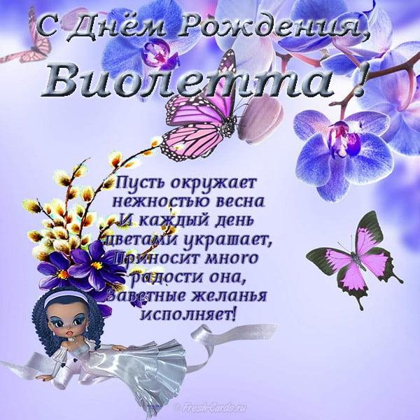 Картинки поздравления с Днем Рождения Виолетта (2)