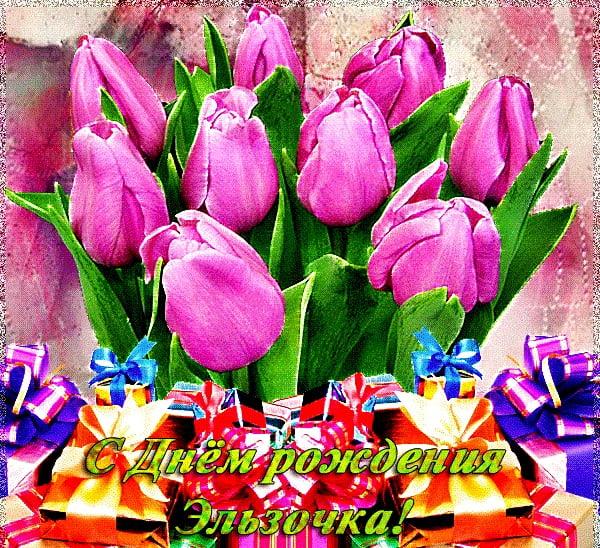 Картинки поздравления с Днем Рождения Ельза (1)