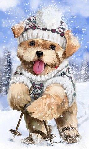 Картинки про собак карандашом - подборка (21)