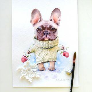 Картинки про собак карандашом - подборка (27)