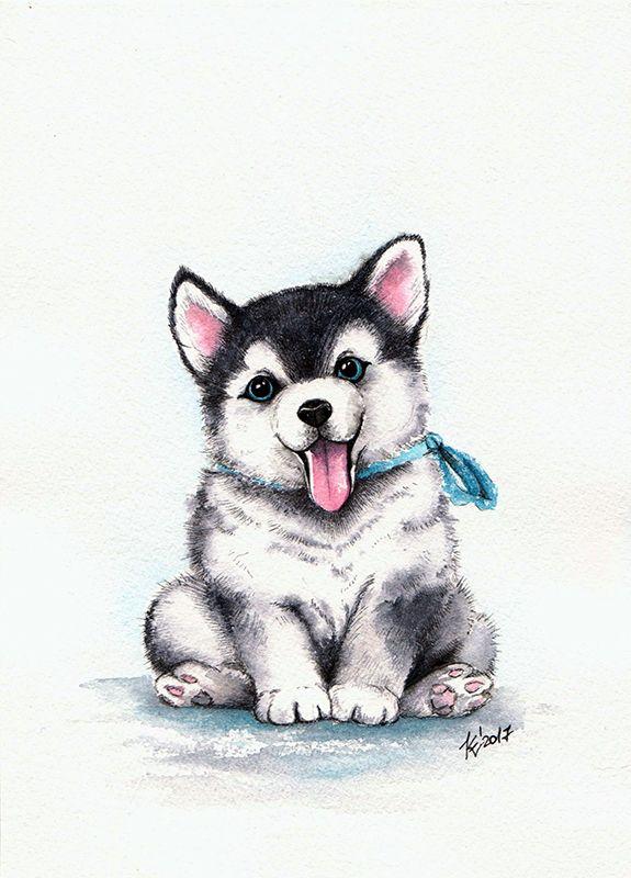 Картинки про собак карандашом - подборка (6)