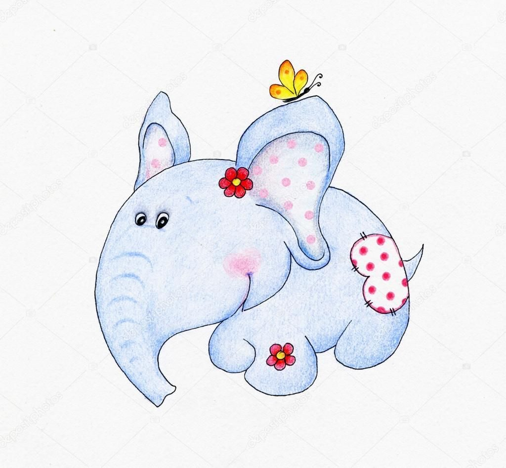 Картинки слон рисунок и картинки (17)