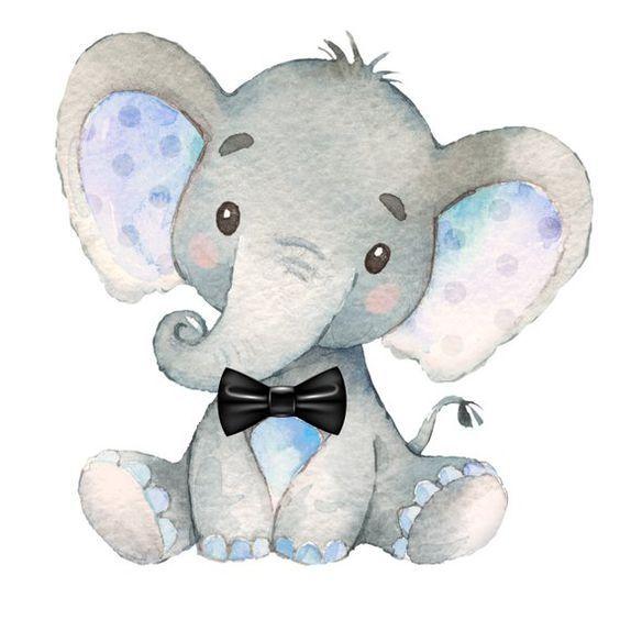 Картинки со слоном рисованные (12)