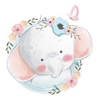 Картинки со слоном рисованные (18)