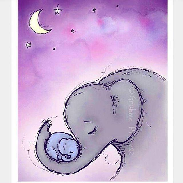 Картинки со слоном рисованные (4)