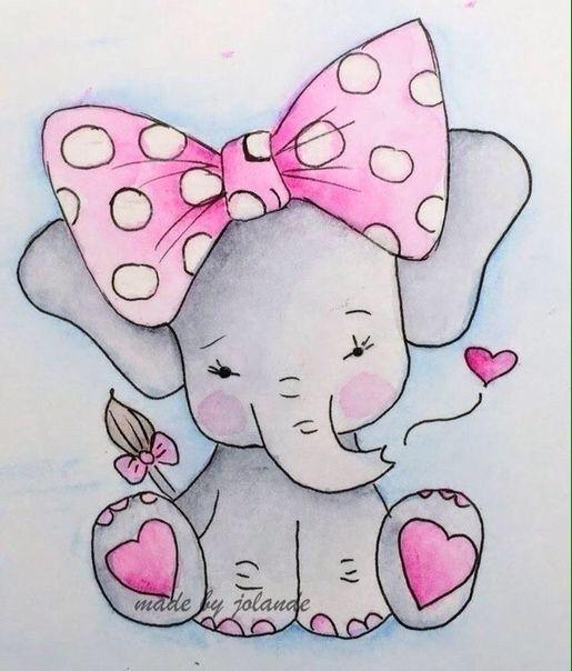 Картинки со слоном рисованные (7)