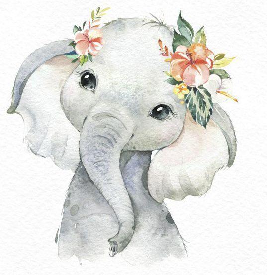 Картинки со слоном рисованные (8)
