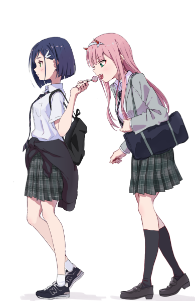 Картинки с аниме подругами - лучшие арты (1)