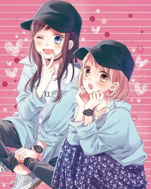 Картинки с аниме подругами - лучшие арты (13)