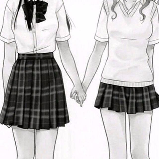 Картинки с аниме подругами - лучшие арты (18)