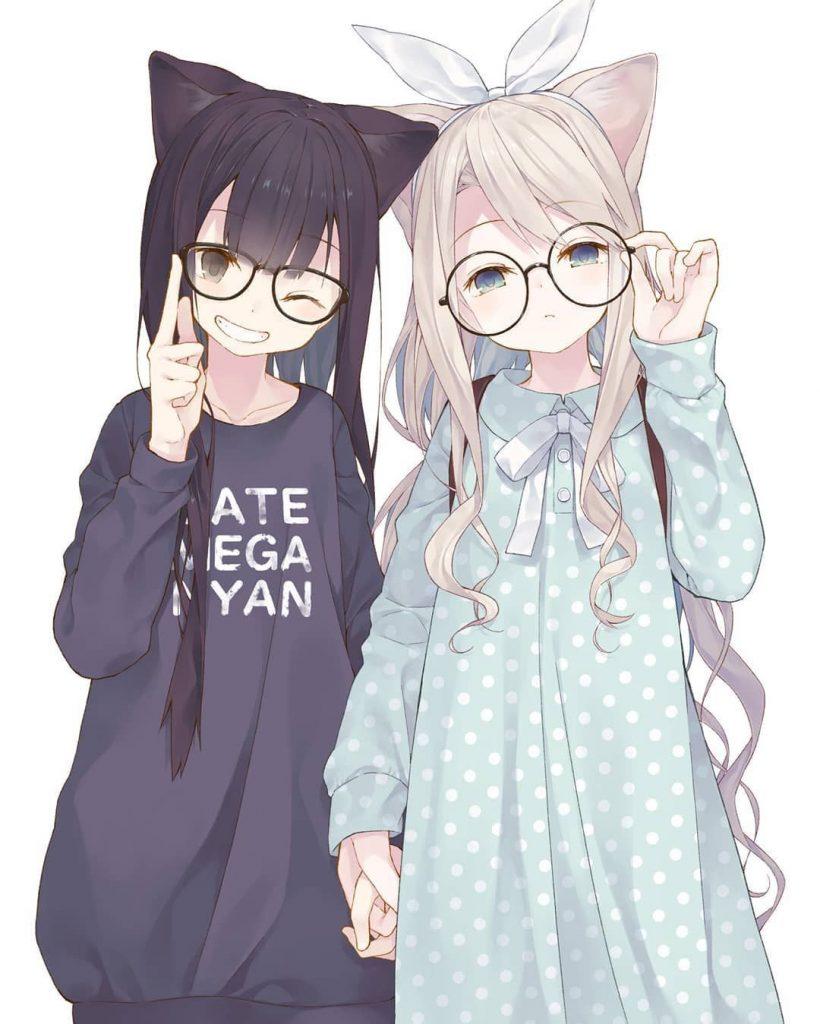 Картинки с аниме подругами - лучшие арты (3)