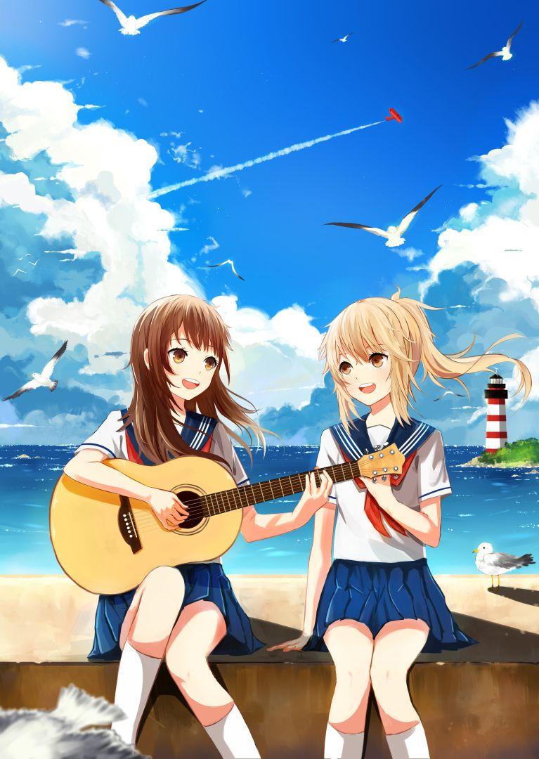 Картинки с аниме подругами   лучшие арты (4)