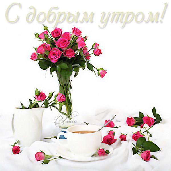 Картинки с добрым утром и хорошим днем женщине (16)
