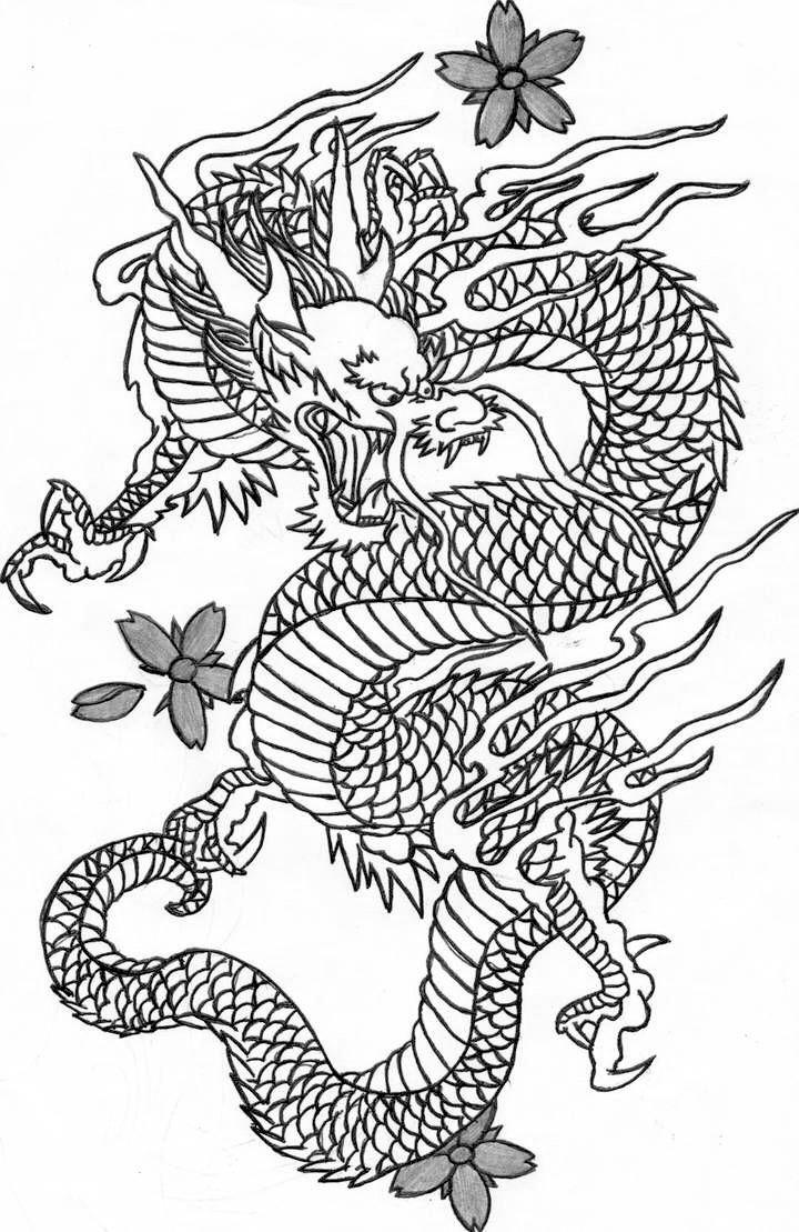 Картинки тату Китайский Дракон   подборка фото (10)