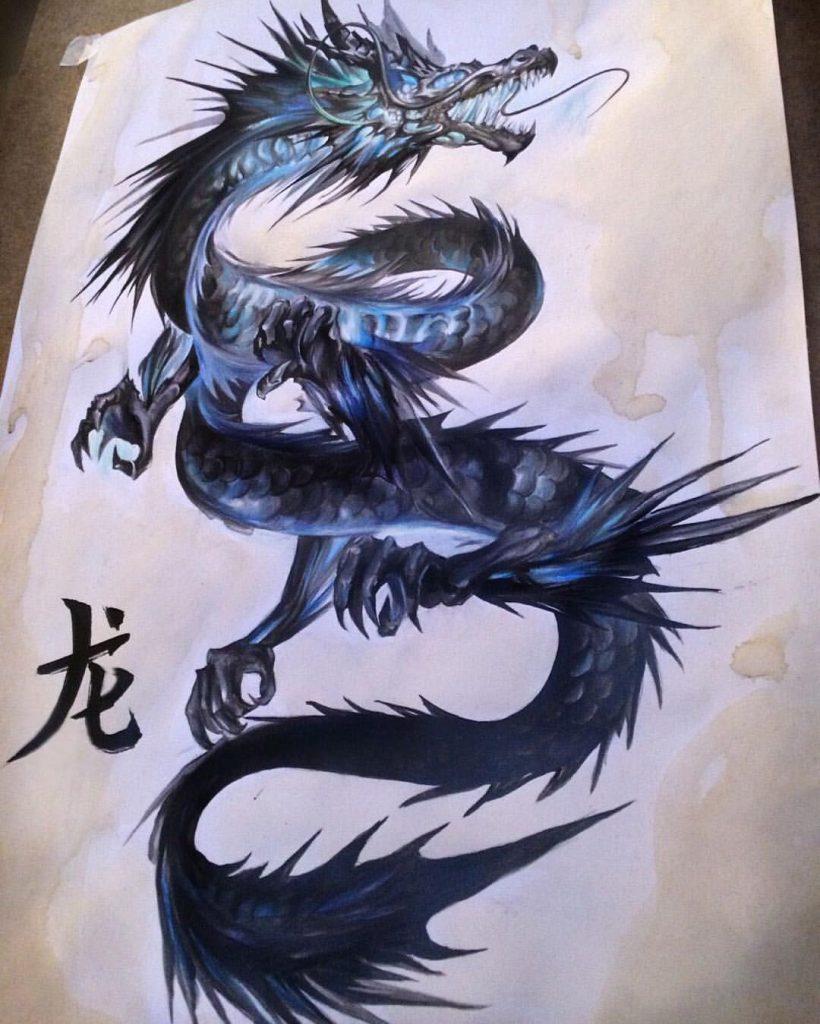 Картинки тату Китайский Дракон - подборка фото (11)