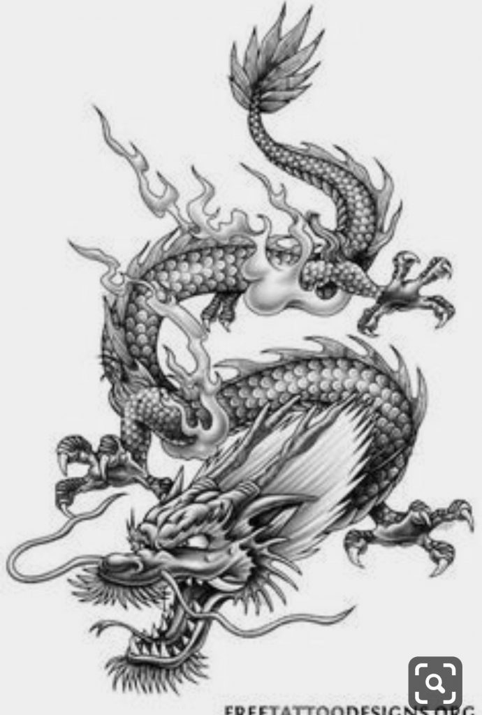 Картинки тату Китайский Дракон - подборка фото (12)