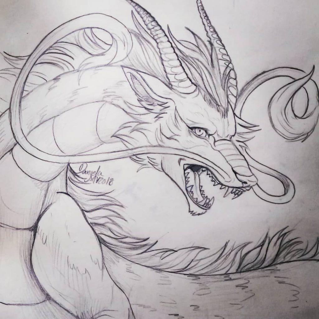 Картинки тату Китайский Дракон - подборка фото (13)