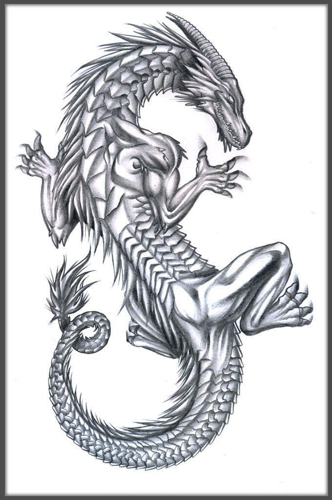 Картинки тату Китайский Дракон - подборка фото (15)