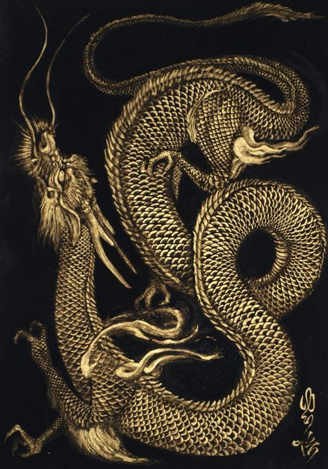 Картинки тату Китайский Дракон - подборка фото (17)