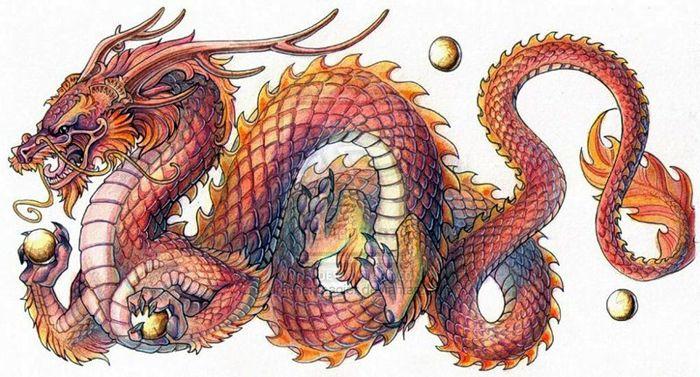 Картинки тату Китайский Дракон - подборка фото (20)