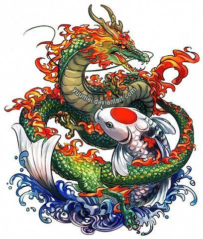 Картинки тату Китайский Дракон - подборка фото (25)