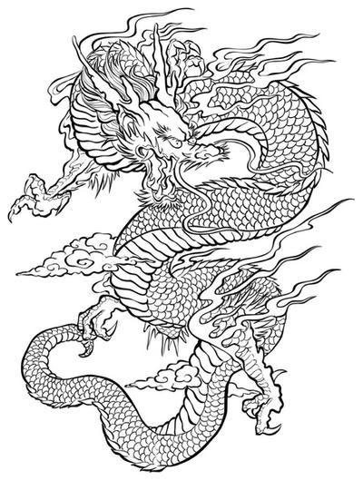 Картинки тату Китайский Дракон - подборка фото (27)