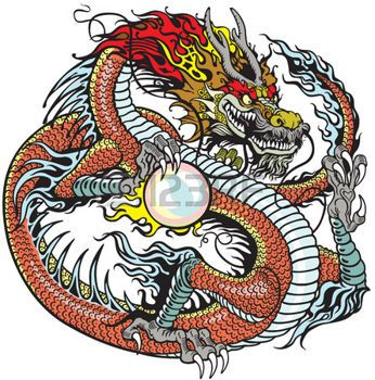 Картинки тату Китайский Дракон - подборка фото (4)