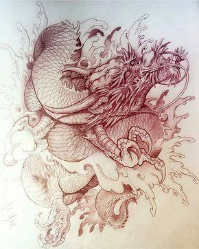 Картинки тату Китайский Дракон - подборка фото (9)