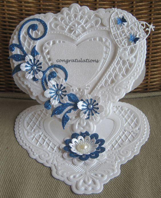 Квиллинг открытки свадебные - красивые фото (16)