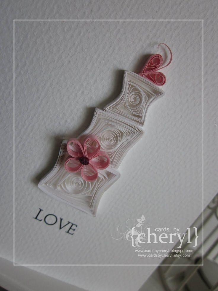 Квиллинг открытки свадебные - красивые фото (19)