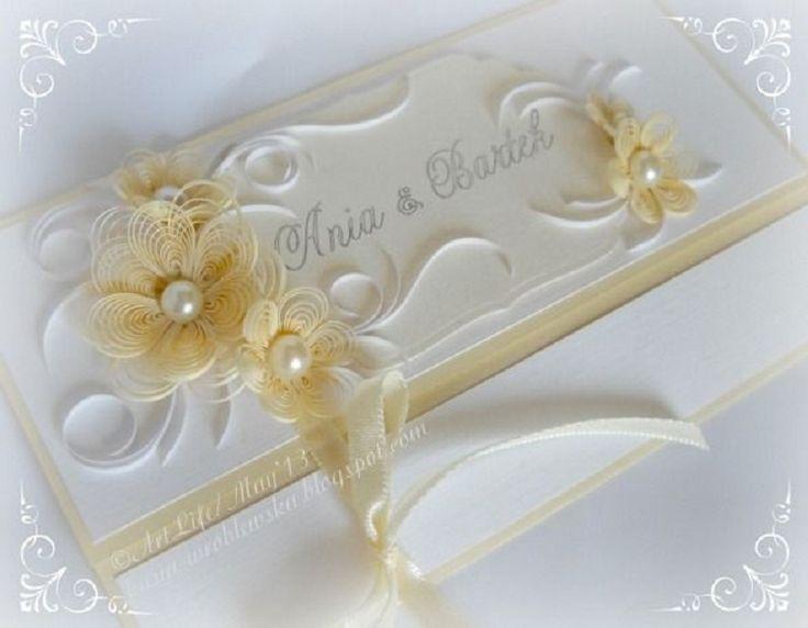 Квиллинг открытки свадебные - красивые фото (3)