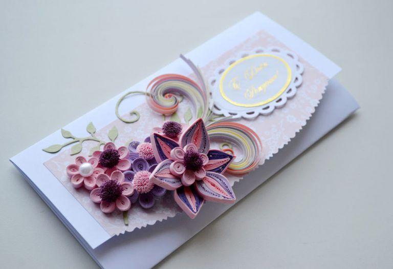 Квиллинг открытки свадебные - красивые фото (4)
