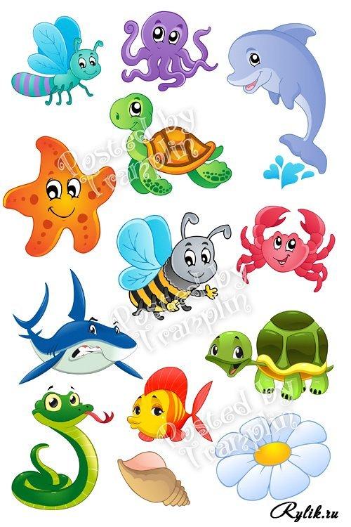 Клипарт животные для детей на прозрачном фоне (10)