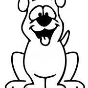 Контур собаки рисунки и картинки (1)