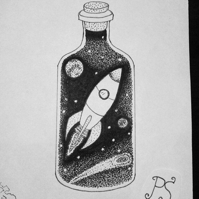 Космос графика тату - картинки (6)
