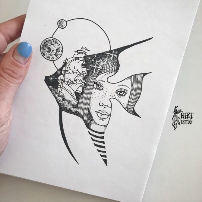 Космос графика тату - картинки (8)