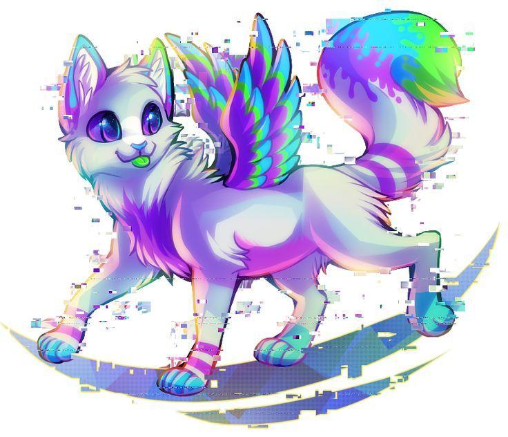 Кошки картинки аниме с крыльями (1)