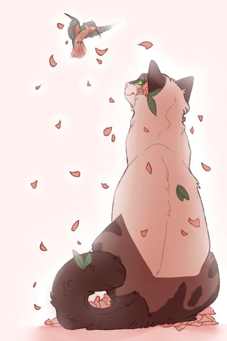 Кошки картинки аниме с крыльями (6)