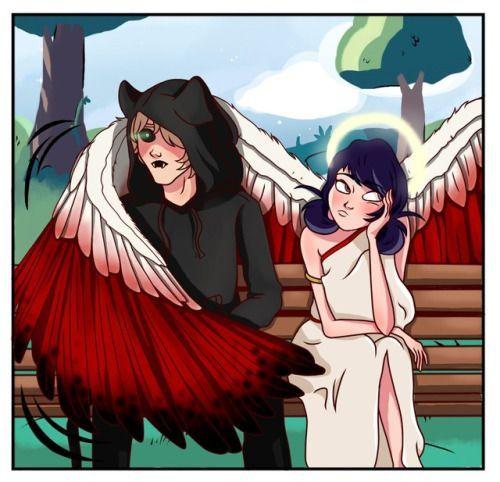 Кошки картинки аниме с крыльями (8)