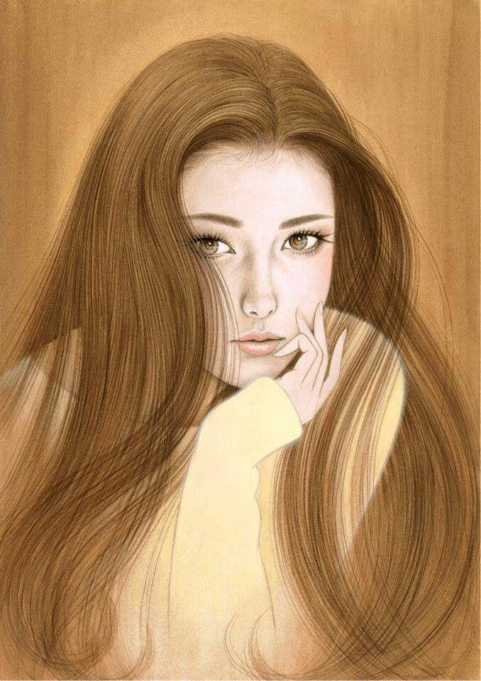 Красивые арты девушек нарисованные - подборка (20)
