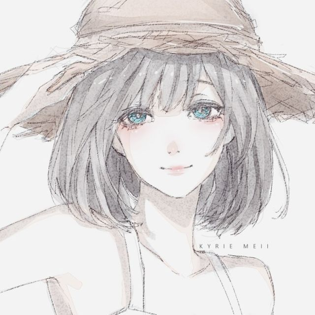 Красивые арты девушек нарисованные - подборка (6)