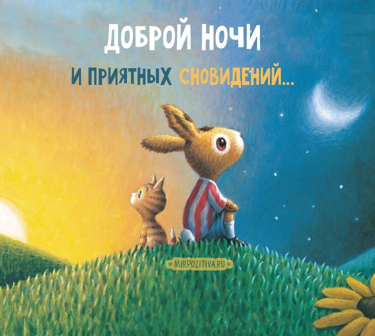 Красивые картинки спокойной ночи - открытки (16)