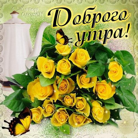 Красивые картинки с добрым утром девушке с розами (12)